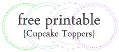 Cupcake Toppers {free printable}