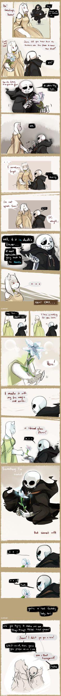 Toriel and Sans - Reapertale AU - comic