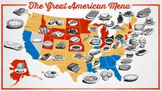 Albert Burneko and illustrator Jim Cooke have put together the Great American Menu, a list of signature regional foods from each state in the United States, plus the District of Columbia. According...