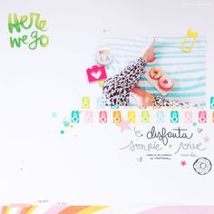 #papercrafting #scrapbook #layout - LORA BAILORA : Try something different - Layout by Kathleen