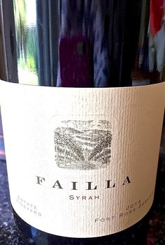 Check out our latest Wine of the Week: 2014 Failla Syrah Estate Vineyard, Fort Ross-Seaview, California! Winemaker Ehren Jordan is making gorgeous cool climate incarnations of Chardonnay, Pinot Noir & Syrah from Sonoma's coastal vineyards. | The Glamorous Gourmet