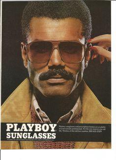 1982 Playboy Sunglasses Advertisement 80s Mens Sun Glasses Fashion Style Handsome Hot Eyewear Tinted Wall Art Decor