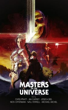 Gerald Parel - Masters of the Universe movie-poster illustration
