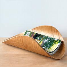 Aspen Magazine Rack - Oak Bent Plywood