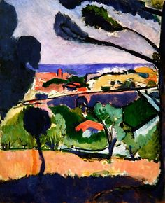 Henri Matisse View of Collioure and the Sea, 1911 oil on canvas Henri Matisse, Matisse Kunst, Matisse Art, Matisse Paintings, Picasso Paintings, Post Impressionism, Pablo Picasso, French Artists, Love Art