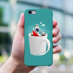 Captain Monday phone case by The Printed Fox Coffee Lover Gifts, Coffee Lovers, Unique Gifts For Her, Cute Gifts, Nerdy, Cool Designs, Cute Animals, Fox, Geek Stuff