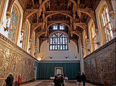 English Renaissance: Tudor: Great hall. Hampton Court Palace, The Tudor Great Hall (Henry VIII), London, 1472-1530
