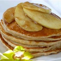 Mom's Applesauce Pancakes got the biggest increase in views week to week (2,363%—wow!). And rightly so—who *wouldn't* want to look at these? Repin for weekend breakfast! http://allrecipes.com/recipe/moms-applesauce-pancakes/detail.aspx