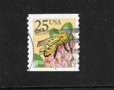 "Rare- Very hard to find this is one   A 25 cent Honey Bee Plate number 1  with a ""FULL serif"" . Most have a broken 1 ( with most of the top missing)  So this a very Cool stamp to PNC stamp collectors.  Ain't that just peachy (lol)  Cheers,  Dave"