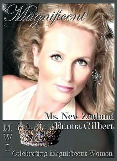 Welcome Ms. New Zealand…… Emma Gilbert – Ms. New Zealand 2016 A homeschooling mother of 9 children. Emma was born in Ireland but grew up in the US. until the age if 12. Ms. Gilbert studied at convent boarding school in Ireland and also went to the University in Ireland where she met and married her husband. They have been married for 25 years. The Gilbert's own and operate an Event Hire Business servicing the Northland Community.Ms. Gilbert will represent her country in the 2016 MWI…