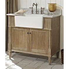 """Fairmont Designs Rustic Chic 36"""" Farmhouse Vanity - Weathered Oak 