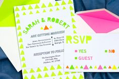 #Neon #wedding invitations.