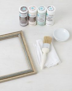 DIY Vintage Frames - take any plain frame and transform it into something special with these instructions and some paint. Martha Stewart