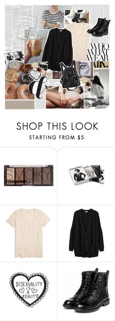 """— this is a story about a girl named lucky . ♡"" by aesteriah ❤ liked on Polyvore featuring H&M, Chanel, Madewell, Organic by John Patrick, yeswalker and Karl Lagerfeld"