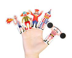 To print, cut, fold, glue, and tell a story.  PUKACA challenges you to mask your fingers. You can print these Finger Puppets at home, and have a party.