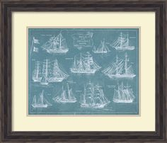 Sailing Ships Framed Painting Print
