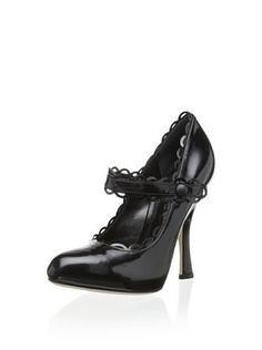 i want these  Dolce & Gabbana Women's Scalloped Pump (Black)