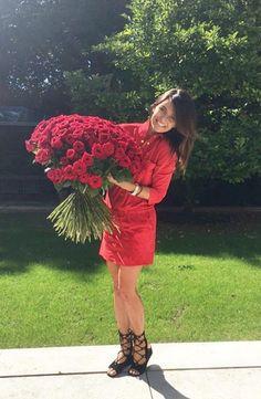 Lewandowska dostała od Roberta na urodziny 150 róż! (FOTO) - PUDELEK
