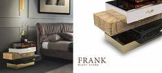 FRANK   Nightstand by Boca do Lobo Master bedroom collection Find more at: www.bocadolobo.com Isaloni, Salone del Mobile, fuorisalone, Milan Design Week, Milan, tortona, boca do lobo, home furniture, design furniture