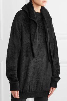 Balenciaga - Cutout Chenille Sweater - Black - FR36