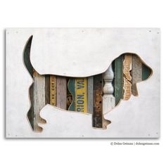 DIY!  Basset Hound Pet Portrait, Dog Walk (Mini) Collection, Made to Order, via Etsy.