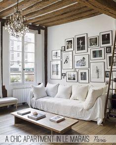 A chic apartment in Le Marais, Paris - Home Shabby Home   Arredamento, interior, craft