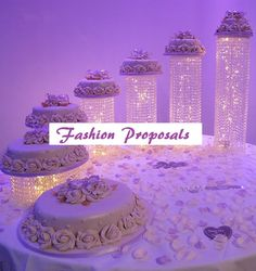 Cascade Acrylic crystals 6 towers cake stands for a luxurious cake display and a Focal point of your wedding.This beautiful Cascade waterfall cake stand display, is a MASTERPIECE, for you to have it in your wedding or Quinceanera Event. it will give the WOW AND LAVISH look to your cake table. and ca