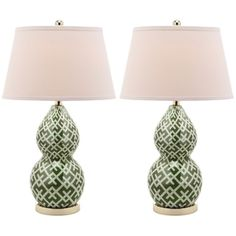 Shop for Safavieh Lighting 25.5-inch Cross Hatch Double Gourd Green Table Lamps (Set of 2). Get free delivery at Overstock.com - Your Online Home Decor Shop! Get 5% in rewards with Club O!