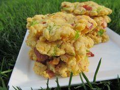 Doggy Dessert Chef: Loaded Potato Dog Treats  Potato Flour; bacon; cheese; broccoli; eggs; water; parsley