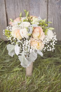 Rustic Wedding Bouquet | thereddirtbride.com | Click to view more from this wedding.