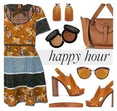 """""""Bottoms Up: Happy Hour"""" by rasa-j ❤ liked on Polyvore featuring Coach, Meli Melo, Chloé, Christian Dior, Lizzie Fortunato, Rimmel, Gucci, happyhour and womensFashion"""