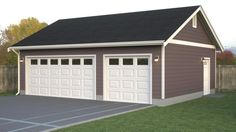 Simple Garage If you need a simple detached garage layout we can design and build a or 4 car bay garage for you. Simple Garage If you need a simple detached garage layout we can design and build a or 4 car bay garage for you. Garage Loft, Pole Barn Garage, Garage Doors, Garage Workshop, Garage Storage, Garage Organization, Garage Workbench, Pole Barns, Diy Garage
