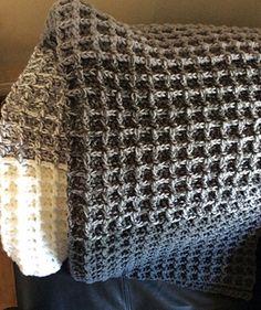 Crochet Waffle Stitch Blanket Afghans Crochet Waffle
