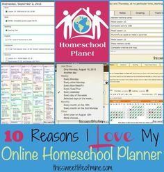 Homeschool lesson planning has become so much easier since I discovered Homeschool Planet - an online homeschool planner! | thissweetlifeofmine.com