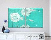 Original abstract art Swarovski® & glitter. Dandelion by LydiaGee