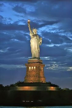Statue of Liberty; New York City...the quintessential tourist attraction in NYC.  WELL worth the visit (via ferry) and getting the audio tour.  Plus great photo ops!