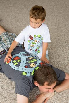 Father Son Matching Shirts. Race Track Shirts. Race Car Shirt. Christmas Gift for Dad. Dad and Son Gift From Son. Play Mat Shirt. Grey White by swankyturtle on Etsy https://www.etsy.com/listing/477097012/father-son-matching-shirts-race-track