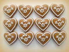 Xmas Cookies, Sugar Cookies, Gingerbread Cookies, Gingerbread House Designs, Christmas Biscuits, Royal Icing, Cake Decorating, Valentines Day, Food And Drink