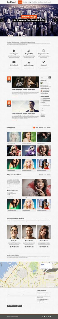 RedPage by Pavel Pavlushka, via Behance