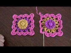 Almohada o cojín caramelo tejido en telar reloj y crochet