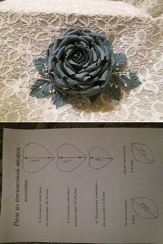 Rose from denim the hands. \/ Other types a needlework \/ Flowers from fabric Handmade Flowers, Diy Flowers, Beaded Flowers, Crochet Flowers, Flower Decorations, Fabric Flower Brooch, Fabric Flowers, Paper Flowers, Denim Crafts