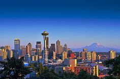 Seattle.  Just went back in August.....had a great time with friends.  Rode the new wheel, saw Mt.Ranier up close and went to the Chihuly exhibit.
