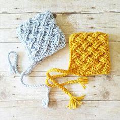 2ad7de2e54c Crochet Baby Basket Weave Bonnet Hat Beanie Infant Newborn Baby Toddler  Child Handmade Baby Shower Gift