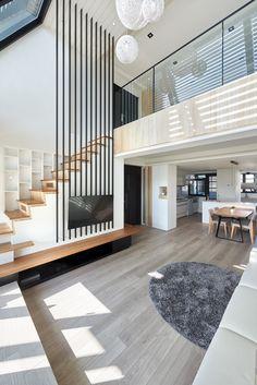 47 Modern And Minimalist Interior House Design Ideas ~ Ideas for House Renovations Modern Hallway, Modern Stairs, Minimalist Home Interior, Modern Interior Design, Minimalist House, Contemporary Interior, Loft Design, House Design, House Stairs