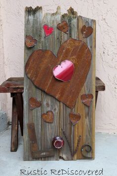 Rustic Love Sign From Old Fence Boards #rustic #reclaimed  #valentines