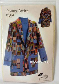 Country PatchesPattern 0354 Womens Jacket Coat XS S M L XL New Sewing Uncut #ALittleMoreEffect #Jacket