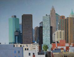"Gineke Zikken ""New York"" x 180 cm) Willis Tower, San Francisco Skyline, Amsterdam, New York, Paintings, City, Building, Travel, New York City"
