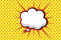 onomatopeya de dialogo en comics - speech bubble, estilo pop art