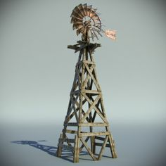 Old Western Town Windmill