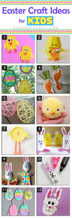 I'm really excited my kids are old enough to start understanding holidays. We did a little Easter egg hunt last year, but Gigi was still so young, she just sat on the grass and ate the snacks inside one of the eggs. This year I'm planning to test out some Easter craft ideas for kids.